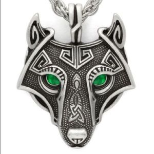 Other - 🆕🎁 Norse Viking Wolf Head Pendant & Cord